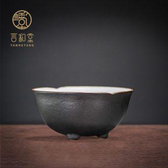 Ceramic cups and hall kung fu tea set small sample tea cup tea tasting tea cup single cup, the tea taking master CPU