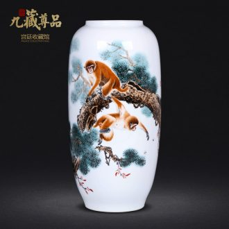 Master of jingdezhen ceramics hand-painted pastel seal hou figure vase sitting room porch decoration crafts are TV ark