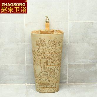 Pillar basin floor type restoring ancient ways one ceramic lavatory household balcony sink pillar lavabo yard