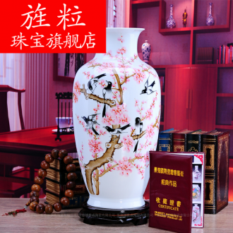 Continuous grain of jingdezhen ceramics hand - made vases sitting room home decoration handicraft furnishing articles for wedding taking
