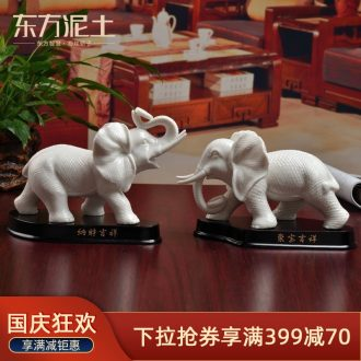 Oriental clay ceramic creative furnishing articles home sitting room desktop decoration/lucky elephant D13-102