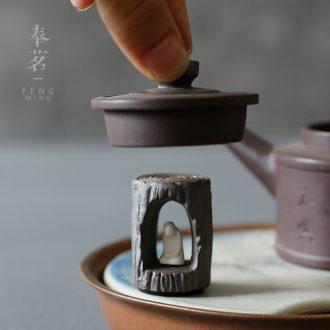Serve tea crude doi buy Chinese zen lid holds tureen tea teapot lid ceramic tea set tea pet furnishing articles