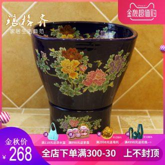 Koh larn, neat package mail of jingdezhen ceramic art basin mop mop pool pool fangyuan mop pool paint peony
