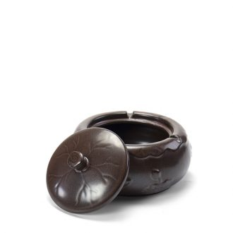 Ronkin creative ceramics with cover the ashtray home tea tea zero furnishing articles large ashtray with personality trend