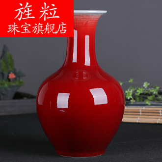 Continuous grain of jingdezhen ceramic vases, new classical Chinese style furnishing articles red decorations ideas after sitting room
