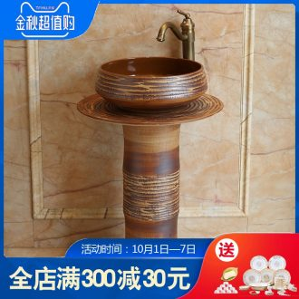 Jingdezhen ceramic basin art columns carved toilet lavatory sink European contemporary and contracted