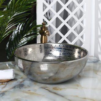 JingYuXuan ceramic lavatory basin basin sink art on silver shadow fashion contracted birdbath
