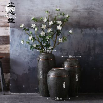 Dust heart ground vases, antique bronze color restoring ancient ways of floral outraged do old green glaze furnishing articles wind drama China
