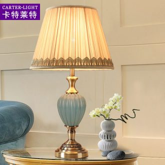 American marriage contracted ceramic desk lamp sweet in the sitting room is the study of creative move of bedroom the head of a bed decoration dimmer remote control