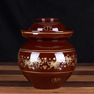Sichuan pickle jar number earthenware jar ceramic with small pickles altar sauerkraut seal with cover in the kitchen