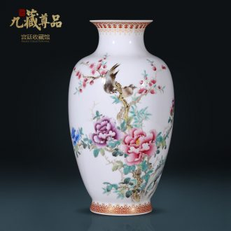 Master of jingdezhen ceramics hand-painted blooming flowers bottles of Chinese style living room TV ark flower arranging porch is decorated furnishing articles