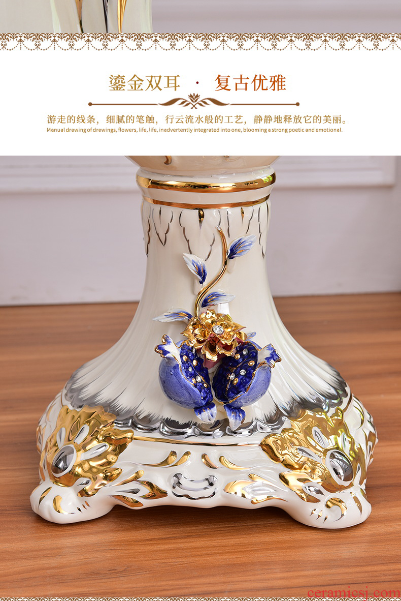 The sitting room of large vases, ceramic high dry flower arranging dried flowers flower arrangement home decoration large furnishing articles jingdezhen - 556180906601