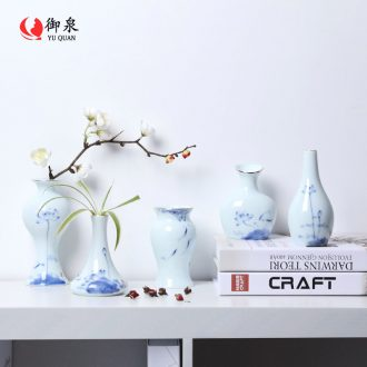 Japanese imperial springs, floret bottle ceramics dried flowers, flower arrangement, the sitting room porch creative decorations kung fu tea set furnishing articles