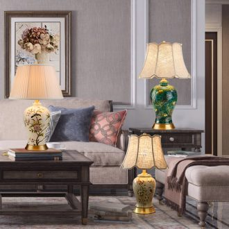 American desk lamp lamp of bedroom the head of a bed the sitting room is between the example of Europe type restoring ancient ways of new Chinese style garden villa whole copper ceramic lamp