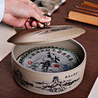 Ronkin ceramic seal pot of pu 'er tea pot large tea cake store receives the seventh, peulthai the tea taking kung fu tea accessories