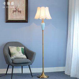 American contracted sitting room sofa floor lamp light study bedroom light key-2 luxury north European ceramic ins wind vertical desk lamp