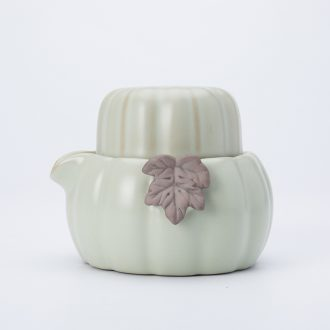 Ronkin your up crack cup a pot of small huge egg cup of Japanese ceramic travel portable single kung fu tea set