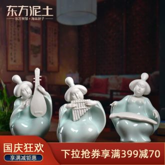 Oriental soil Chinese traditional ladies ceramic furnishing articles/home decoration tang dehua manual sculpture art the ci-poetry