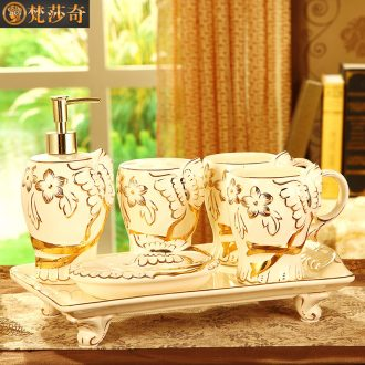 Vatican Sally 's wedding present for girlfriends friend to washing set ceramic sanitary ware has five new European furnishing articles