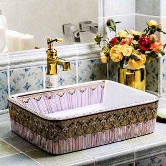 On the basin that wash a face to wash your hands square ceramic creative household European toilet sanitary ware art toilet the pool that wash a face basin