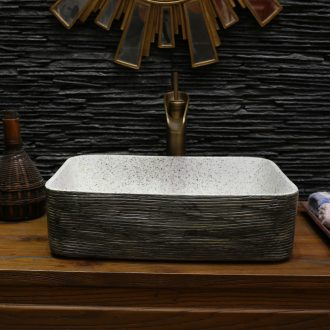 On bonsai, ceramic lavabo that defend bath lavatory basin, art basin carved restoring ancient ways