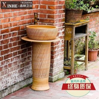 Lavabo pillar ceramic bathroom toilet outdoor balcony floor integrated basin basin of the pool that wash a face vertical column
