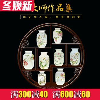 Jingdezhen ceramics hand - made vases, new Chinese style household decorations rich ancient frame sitting room place craft vase