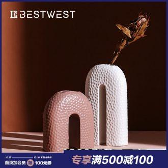 BEST creative ceramic vase WEST arch soft light decoration key-2 luxury furnishing articles sitting room put vase is the mock up room