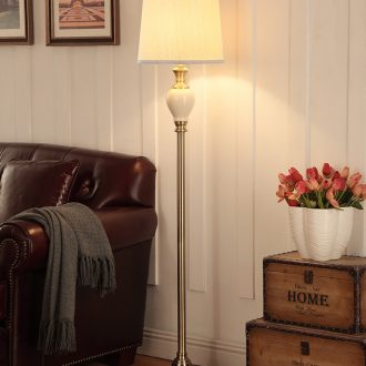 Doren American ceramic lamp sitting room is contracted and I creative vertical lamp bedroom floor lamp of remote control