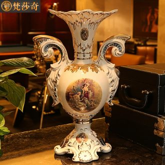The Vatican Sally restoring ancient ways far, European ceramic flower vases luxurious sitting room TV ark, household ground adornment furnishing articles