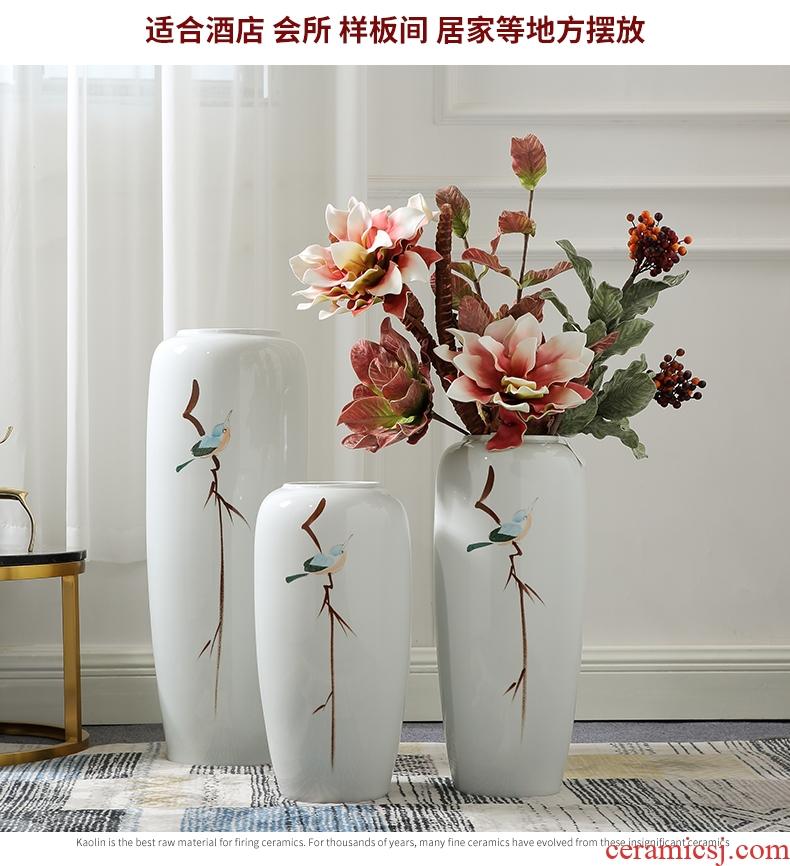 European furnishing articles vase household ceramic wine sitting room of large vase creative China large Roman column planter - 598151628136