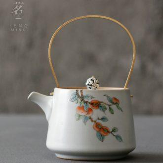 Serve tea which open the slice restoring ancient ways your up girder pot of ceramic teapot household kung fu tea teapot single pot