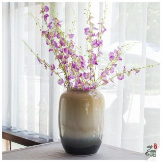 Jingdezhen ceramic high - temperature glaze color flow flower vase retro up vases, I and contracted furnishing articles