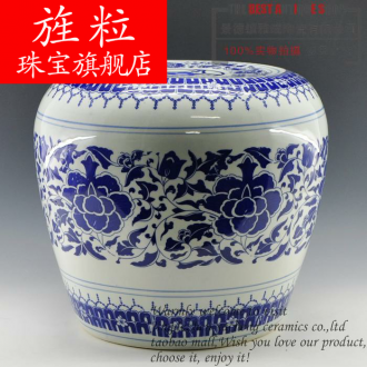 Blue and white apple continuous grain of jingdezhen ceramics who cooler who crafts home furnishing articles adornment