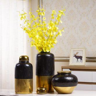 Jingdezhen ceramic vase Nordic light key-2 luxury living room dry flower decoration flower arrangement table POTS creative decorations furnishing articles
