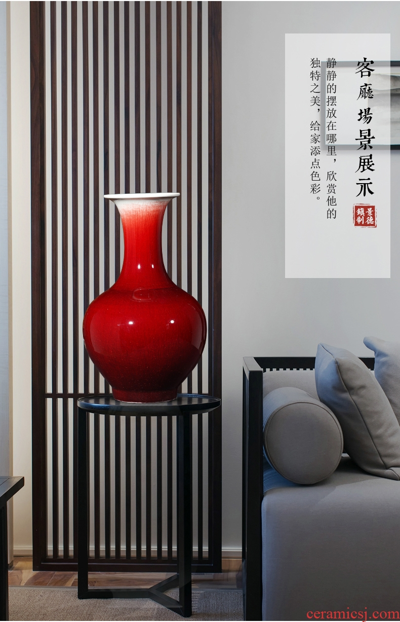 Sitting room of large vase household adornment simulation flower implement contracted and I ou shi dry flower arranging ceramic furnishing articles suit - 602105921466