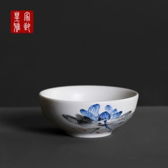 Royal elegant white porcelain kung fu tea set personal glass up ceramic cups inferior smooth master creative water in a single CPU