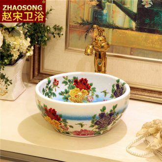 Household Jane's ceramic art on the stage basin mini toilet lavabo balcony sink toilet basin that wash a face 30 cm