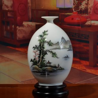 The east mud hand - made vases furnishing articles Chinese style household adornment creative ceramic flower arrangement sitting room/castle peak FanYing