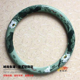 JingYuXuan jingdezhen ceramic art frame green lotus basin. Also, picture frame