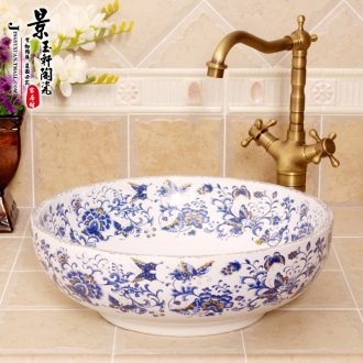 The New type of jingdezhen ceramic art basin sinks a butterfly is flying stage basin basin