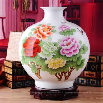Jingdezhen ceramics vase sitting room place, modern fashion peony vases, home act the role ofing wedding gift collections