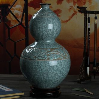 Jingdezhen ceramics hand - carved retro up vases, flower arranging Chinese style porch sitting room adornment is placed