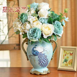 Murphy American retro ceramic vase European rural household furnishing articles sitting room simulation flowers, dried flowers, flower arrangement