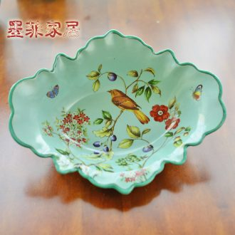 Murphy 's new Chinese style restaurant sitting room made ceramic fruit bowl American country classical European dried fruit snacks