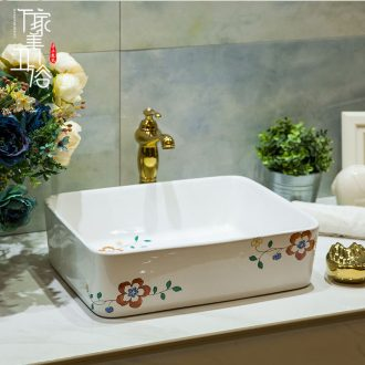 Ceramic basin stage basin sinks art circle European - style hand - made flowers toilet lavabo, the core