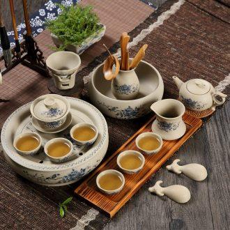 Qiu childe of household ceramic coarse pottery kung fu tea tea teapot teacup GaiWanCha dish wash tea six gentleman's suit