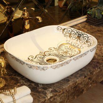 Jingdezhen ceramic basin stage basin sinks square European toilet lavabo art household hand bath