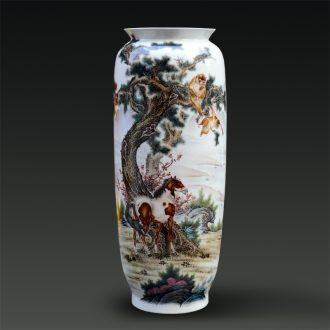 Jingdezhen ceramic Yu Zhao rev all hand - made enamel vase seal hou immediately modern home furnishing articles creative arts and crafts