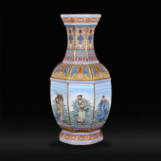 Jingdezhen ceramics antique vase qing qianlong year new classical postmodern sitting room penjing collection